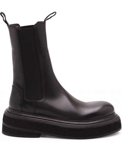 Czarne ankle boots Marsell