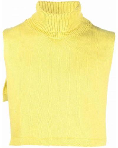 Z kaszmiru szalik - żółty Jil Sander
