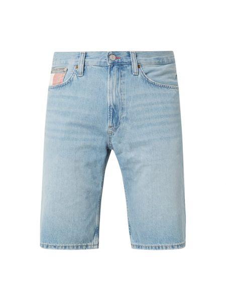 Bawełna bawełna niebieski dżinsowe szorty z paskami Tommy Jeans