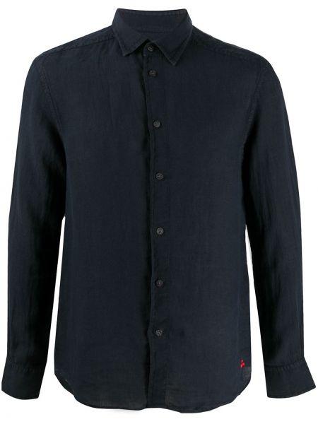 Koszula z długim rękawem klasyczna niebieski Peuterey
