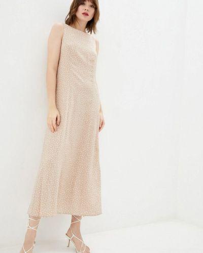 Прямое бежевое платье Ora