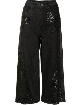 Свободные черные укороченные джинсы на молнии Antonio Marras