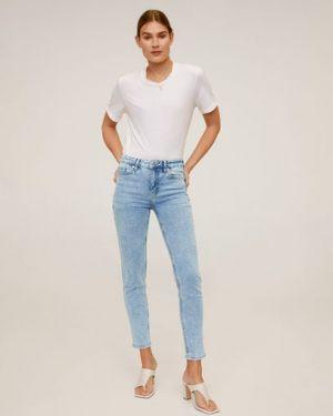 Укороченные джинсы скинни на пуговицах Mango