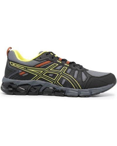 Нейлоновые серые кроссовки на шнуровке Asics