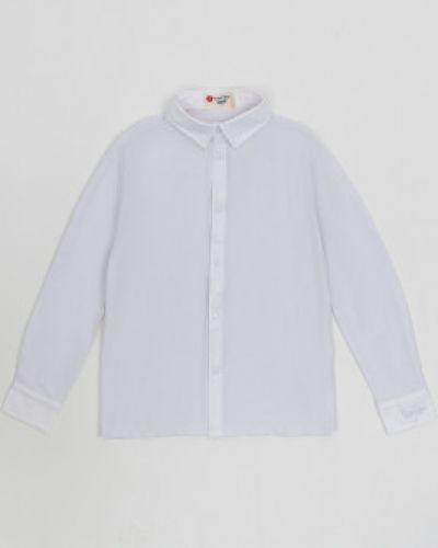 Школьная белая рубашка на кнопках Button Blue