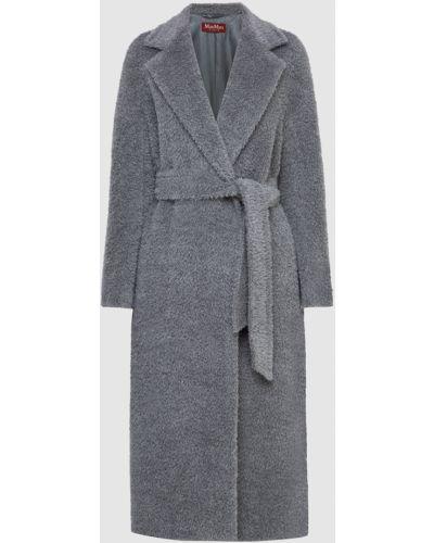 Серое шерстяное пальто Max Mara