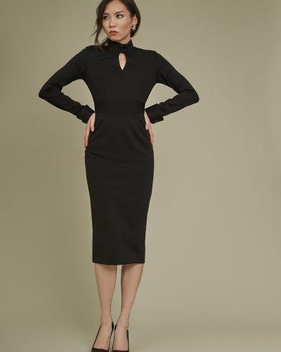 Приталенное платье-футляр с длинными рукавами с поясом Charuel