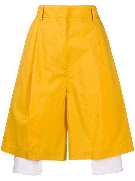 Свободные брюки на пуговицах желтый Maison Flaneur