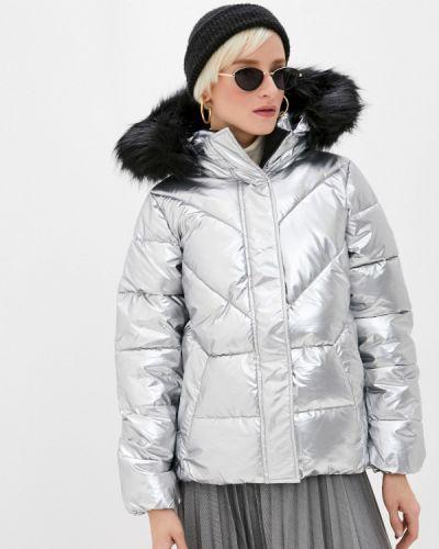 Серебряная утепленная куртка Zolla