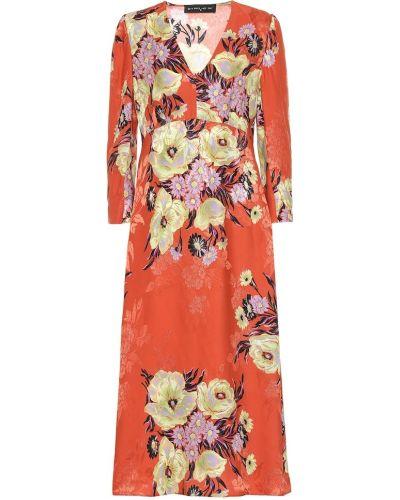 Теплое платье с цветочным принтом из вискозы Etro