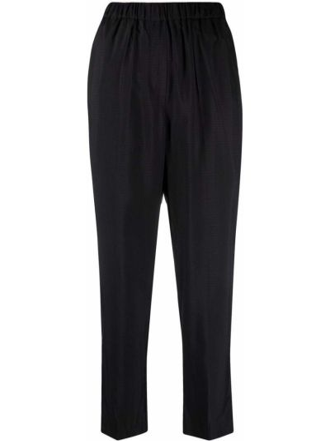 Черные брюки из вискозы Christian Wijnants