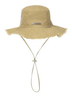 Ватная хлопковая зеленая шапка Jacquemus