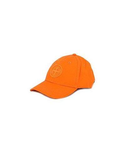 Оранжевая бейсболка Stone Island
