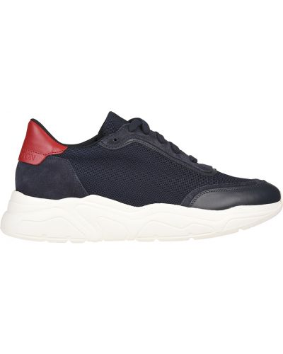 Кожаные кроссовки - синие Stokton
