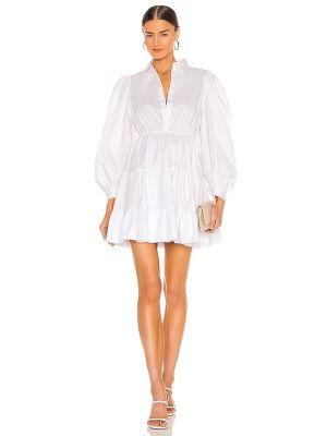 Хлопковое домашнее белое платье мини Bardot