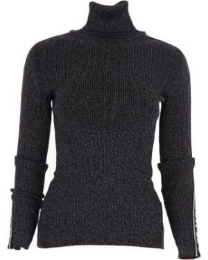 Czarny sweter z wiskozy z długimi rękawami Off-white C/o Virgil Abloh