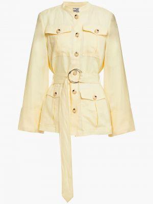 Льняная желтая куртка с поясом Baum Und Pferdgarten