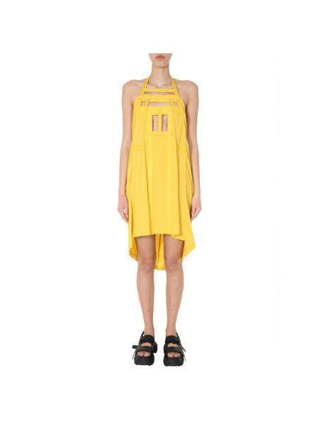 Sukienka midi bez rękawów - żółta Rick Owens