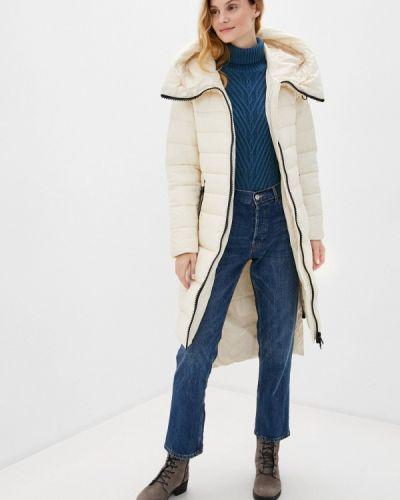 Бежевая теплая куртка Rinascimento