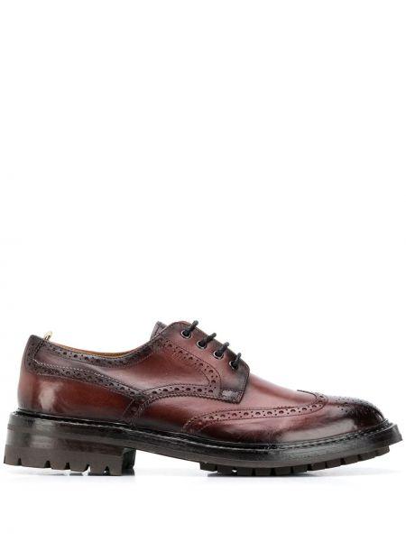 Skórzany ażurowy brązowy buty brogsy na sznurowadłach Officine Creative
