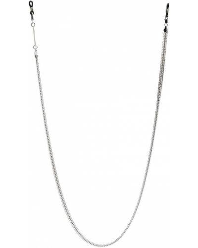 Ażurowe okulary srebrne Frame Chain