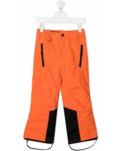 Оранжевые нейлоновые брюки с карманами на молнии Molo