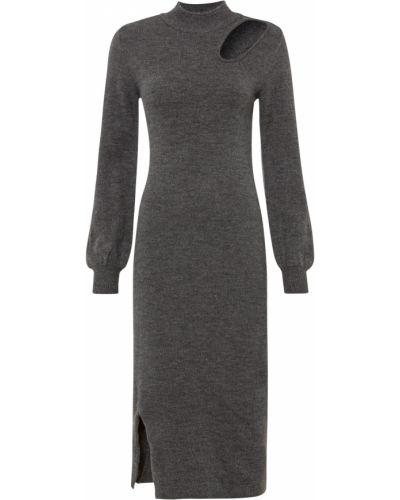 Вязаное платье - серое Bonprix