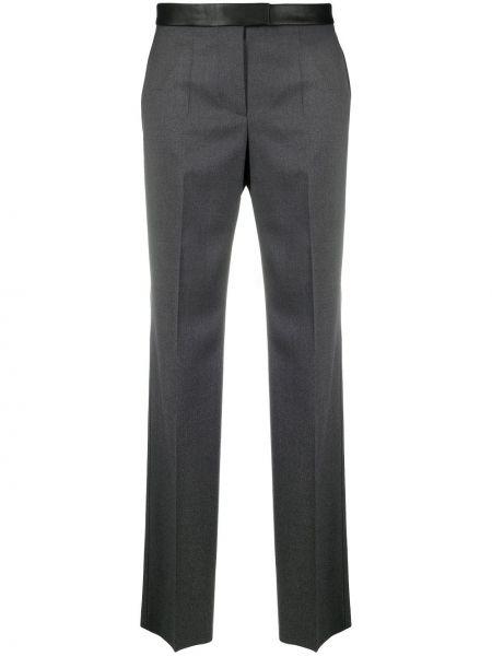Шерстяные черные брюки с карманами Boss