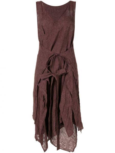 Асимметричное приталенное платье с V-образным вырезом с драпировкой Forme D'expression