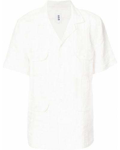Льняная рубашка с короткими рукавами 321