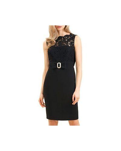 Коктейльное платье из вискозы черное Luisa Spagnoli
