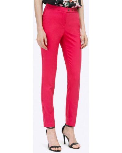 Розовые зауженные брюки Emka