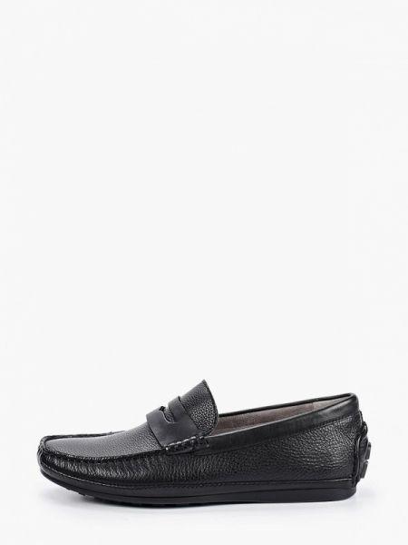 Черные кожаные мокасины Guido Grozzi