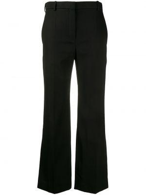 Черные расклешенные брюки с карманами с высокой посадкой Nina Ricci