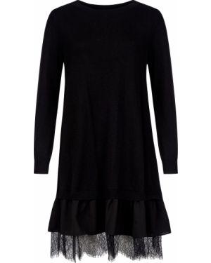 Платье из ангоры - черное Twin-set