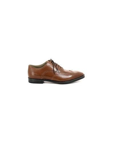 Коричневые туфли летние Castangia
