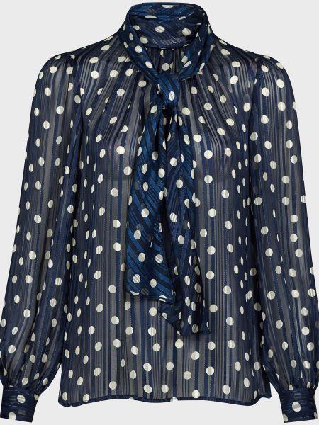 Блузка из полиэстера - синяя Luisa Spagnoli