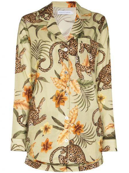 Piżama z długimi rękawami - zielona Desmond & Dempsey