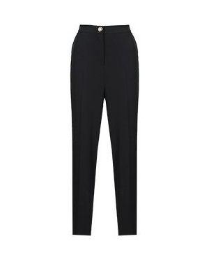 Черные брюки с воротником Elisa Fanti