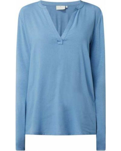 Niebieska bluzka z długimi rękawami z wiskozy Kaffe