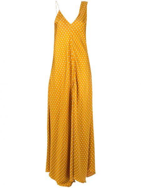 Платье в горошек - желтое Walk Of Shame
