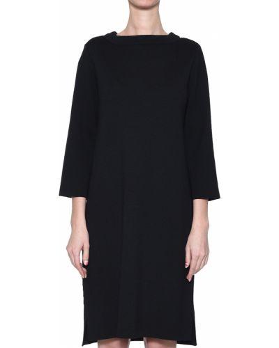 Шерстяное платье - черное Maerz