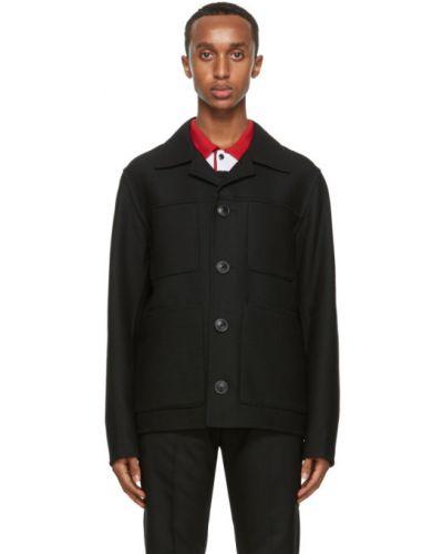 Bawełna bawełna długa kurtka z długimi rękawami z kołnierzem Ami Alexandre Mattiussi