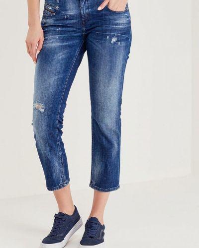 Синие прямые джинсы Diesel