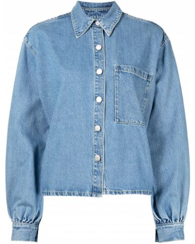 Джинсовая рубашка длинная - синяя Nobody Denim