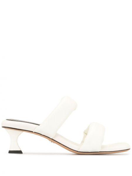 Biały otwarty sandały z prawdziwej skóry plac Proenza Schouler