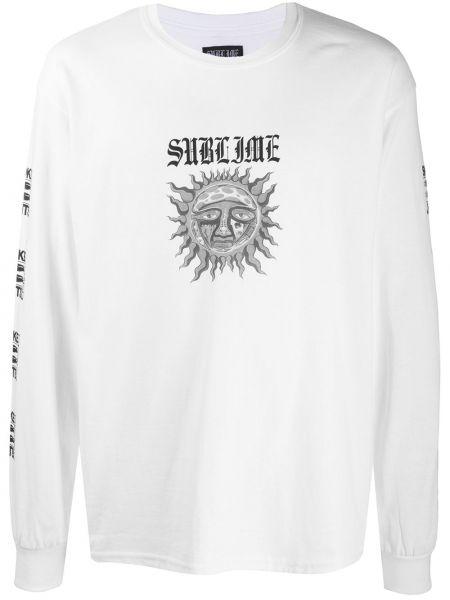Прямая белая хлопковая футболка с круглым вырезом Wacko Maria