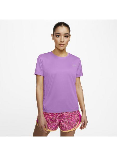 Fioletowy t-shirt do biegania Nike