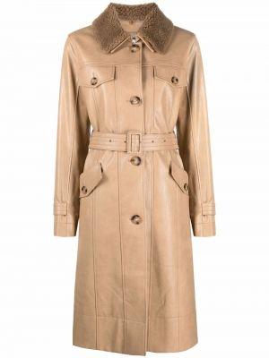 Коричневое пальто с карманами Rejina Pyo