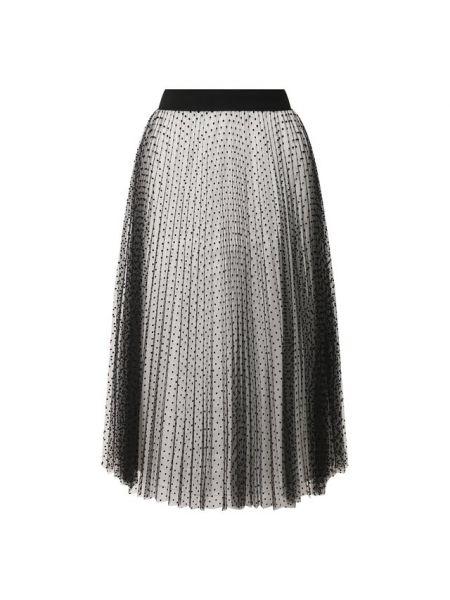 Плиссированная юбка спортивная в горошек Escada Sport